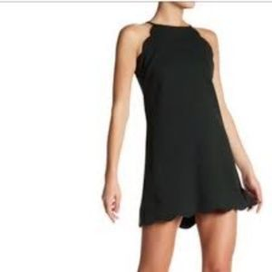 Love Ady Scalloped Trim Halter Dress - Small